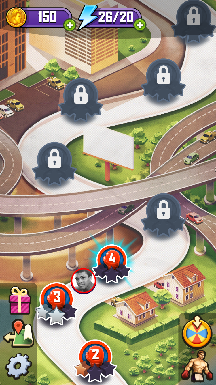 androidアプリ Muhammad Ali: Puzzle King(モハメド・アリ パズルキング)攻略スクリーンショット5