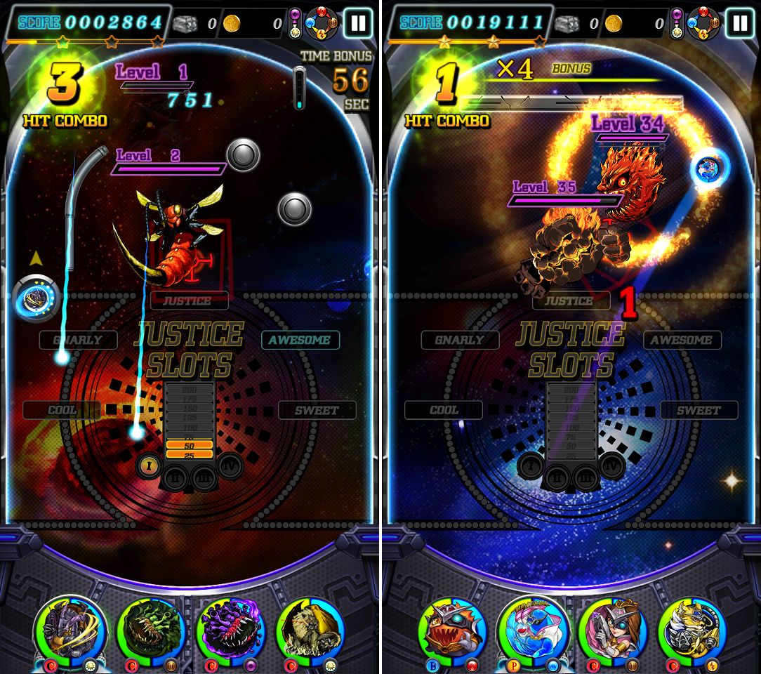 JUSTICE MONSTERS FIVE(ジャスモン) androidアプリスクリーンショット3