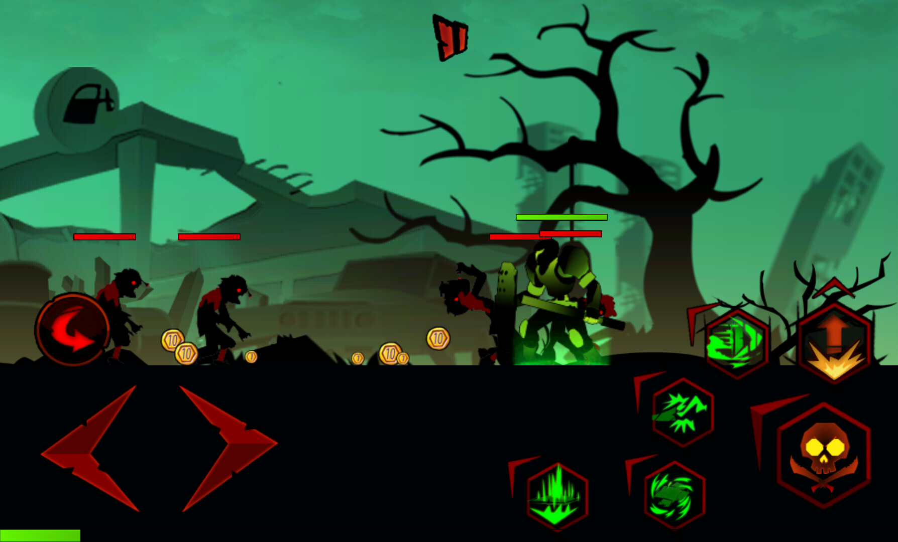 androidアプリ League of Stickman Zombie Free攻略スクリーンショット2