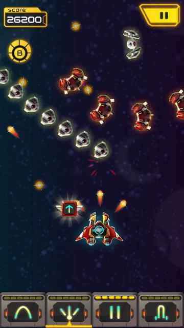 スペースシューター: Galaxy attack androidアプリスクリーンショット2
