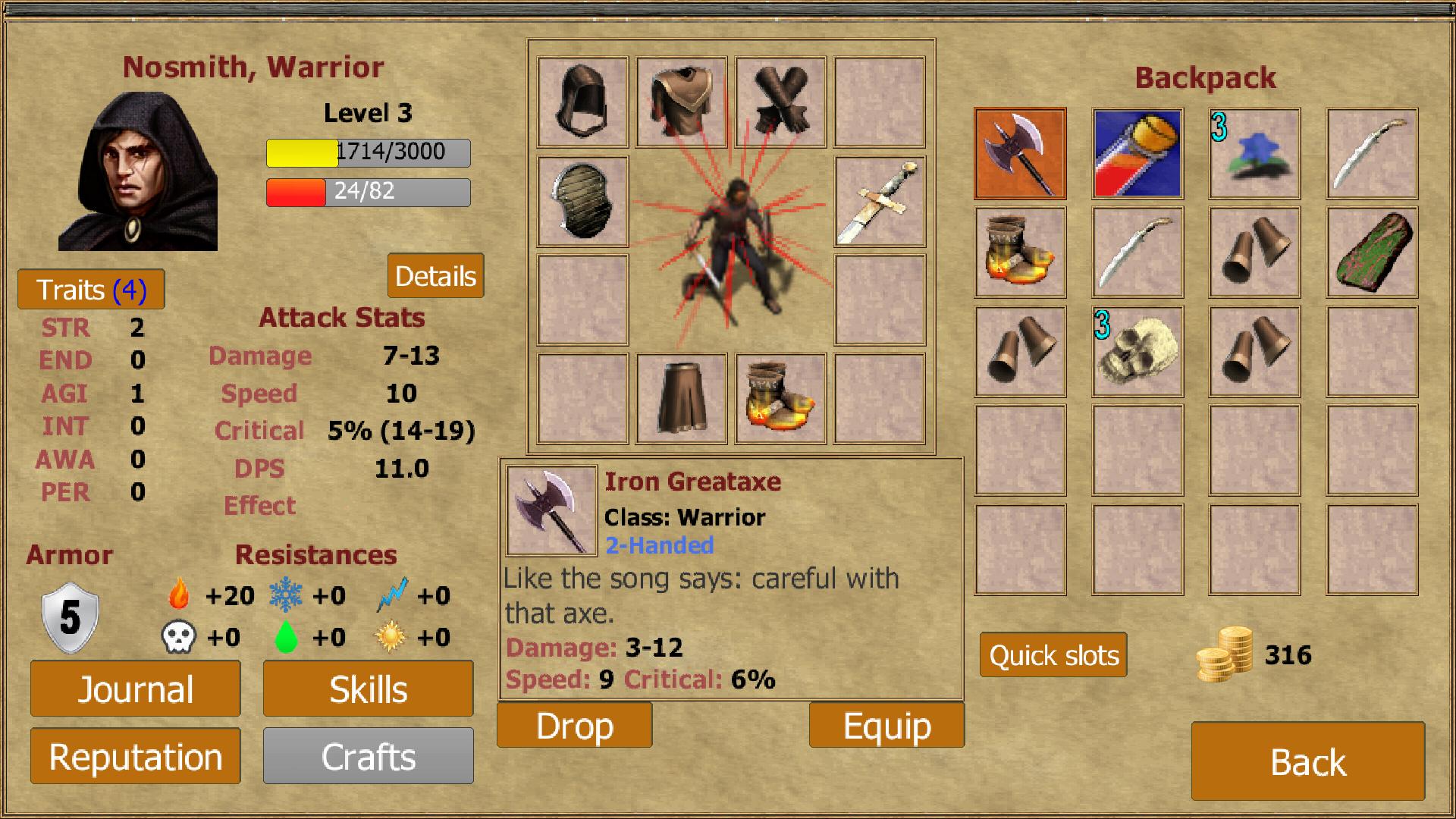 Exiled Kingdoms RPG androidアプリスクリーンショット3