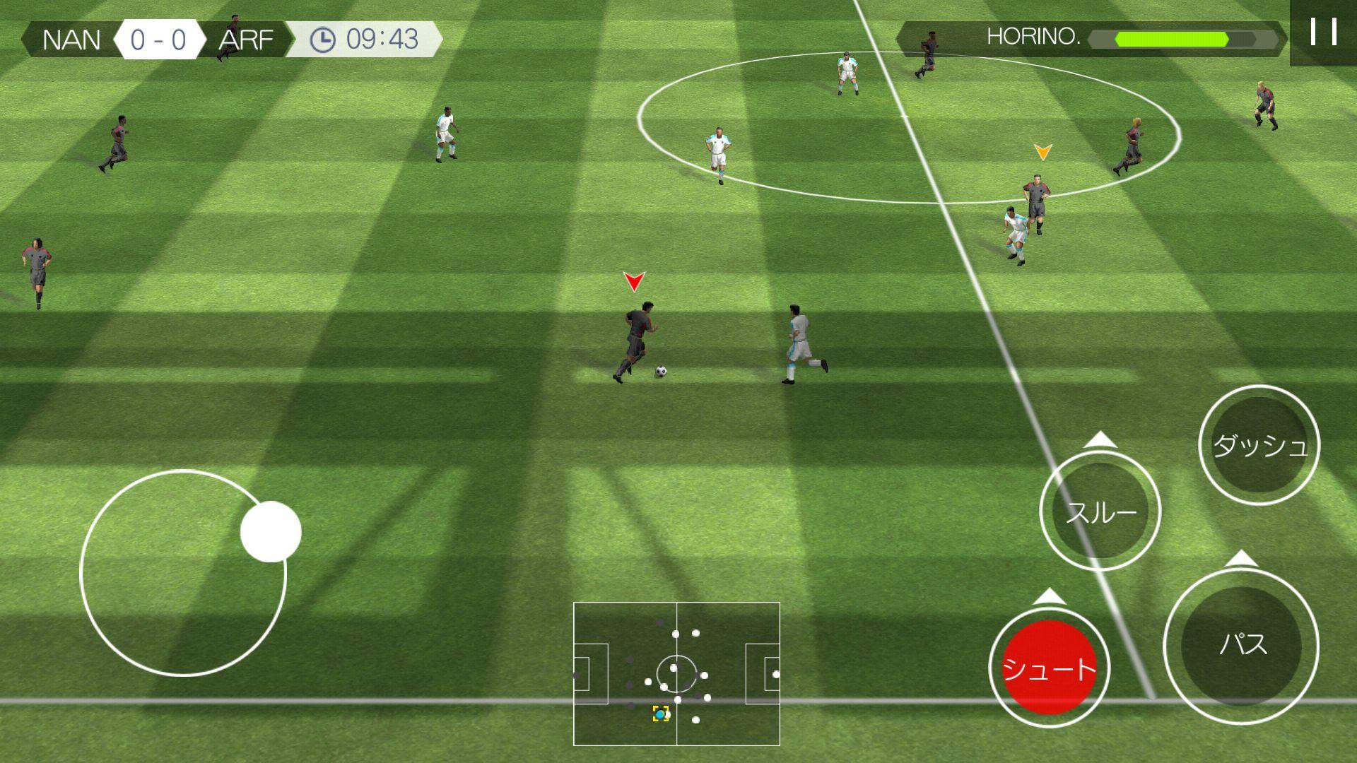 リアルサッカー androidアプリスクリーンショット1
