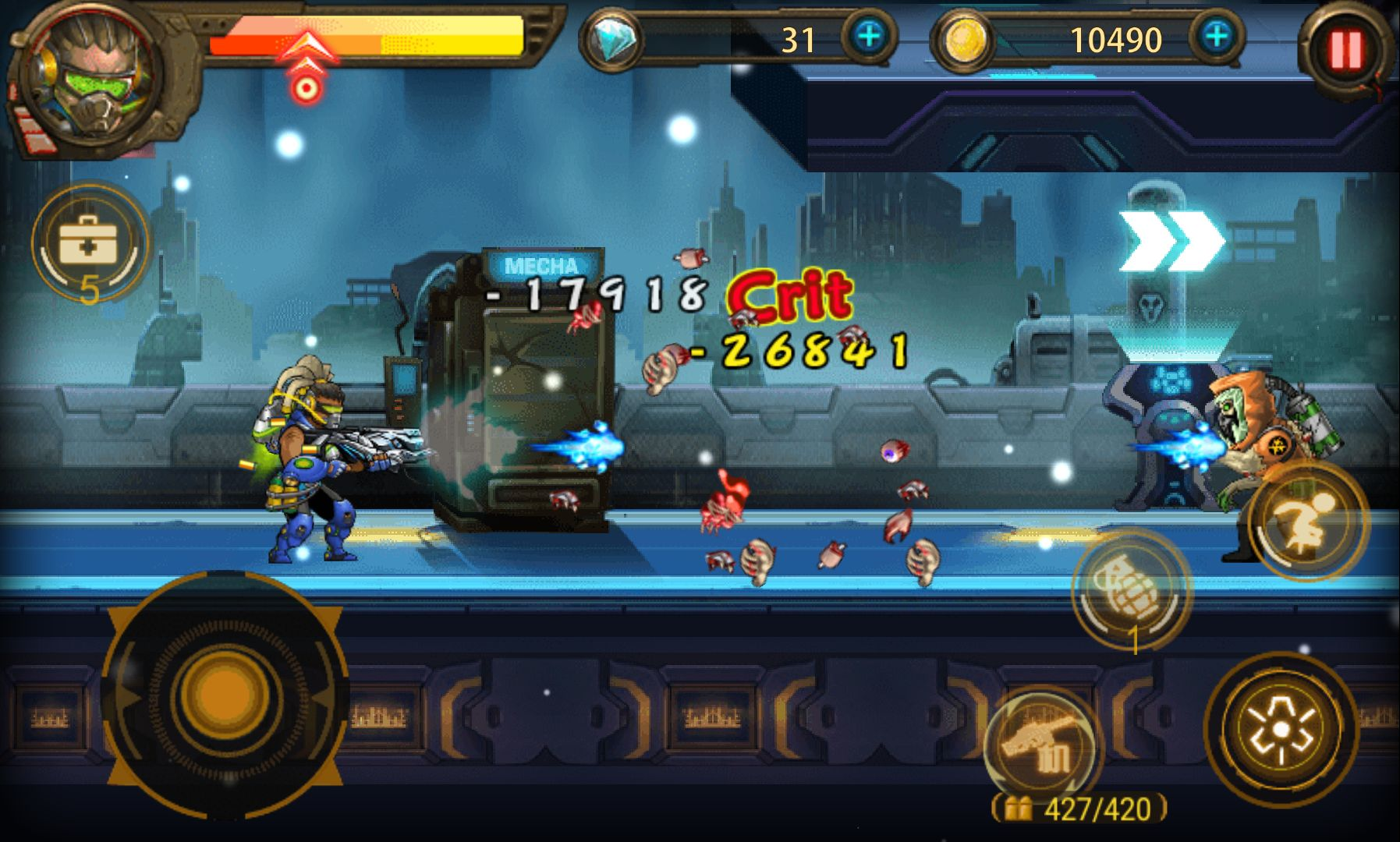 androidアプリ Heroic Action ゾンビ殲滅戦攻略スクリーンショット2