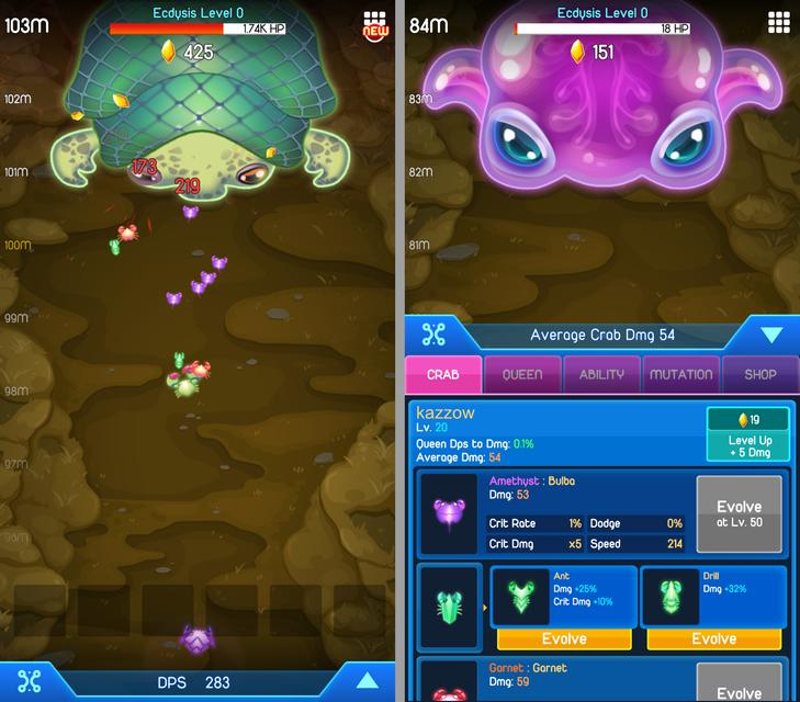 Crab War(カニ合戦) androidアプリスクリーンショット1