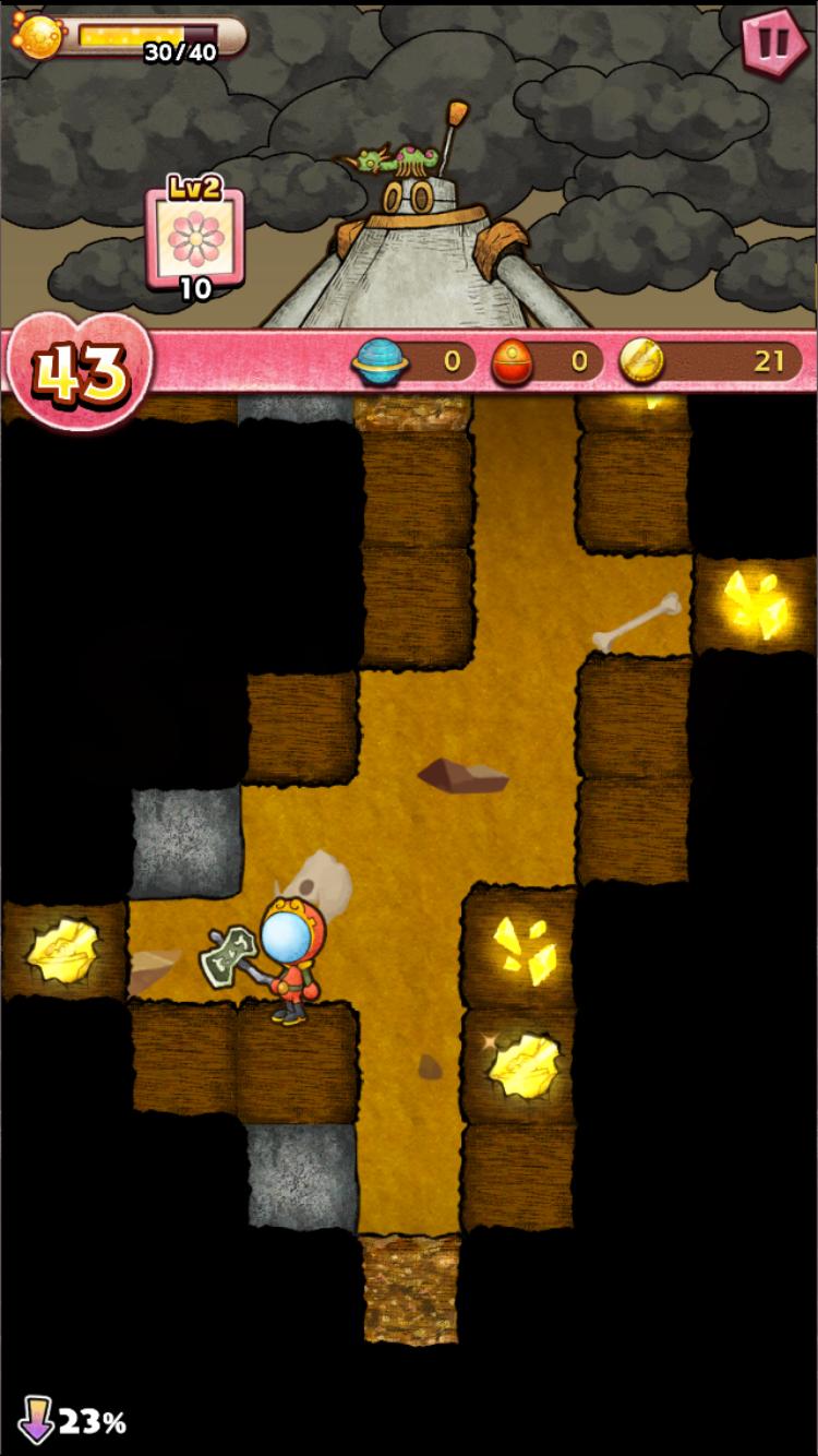 androidアプリ ルナたん ~巨人ルナと地底探検~攻略スクリーンショット2