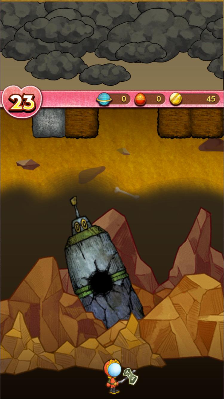 androidアプリ ルナたん ~巨人ルナと地底探検~攻略スクリーンショット4