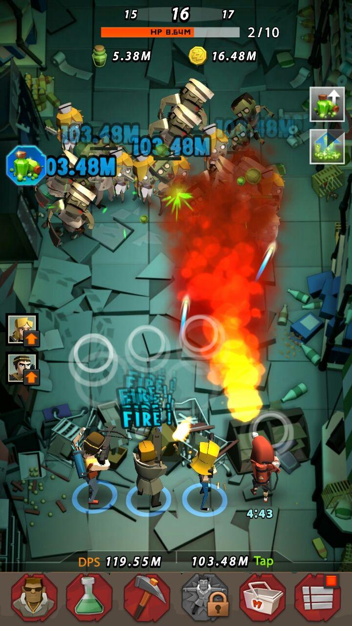 ザップゾンビーズ(Zap Zombies) androidアプリスクリーンショット1