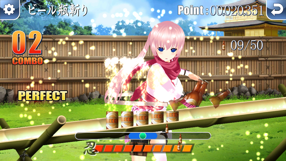 Ninja Chop Z 桜(忍者チョップZ S) androidアプリスクリーンショット1