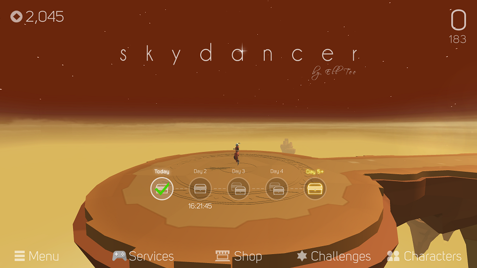androidアプリ Sky Dancer攻略スクリーンショット1