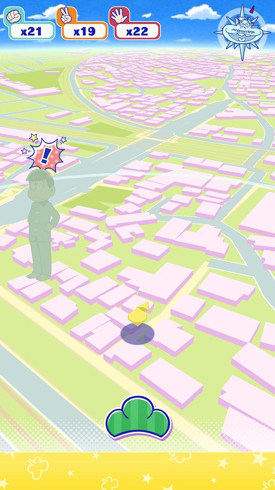 androidアプリ おそ松さんぽ攻略スクリーンショット2