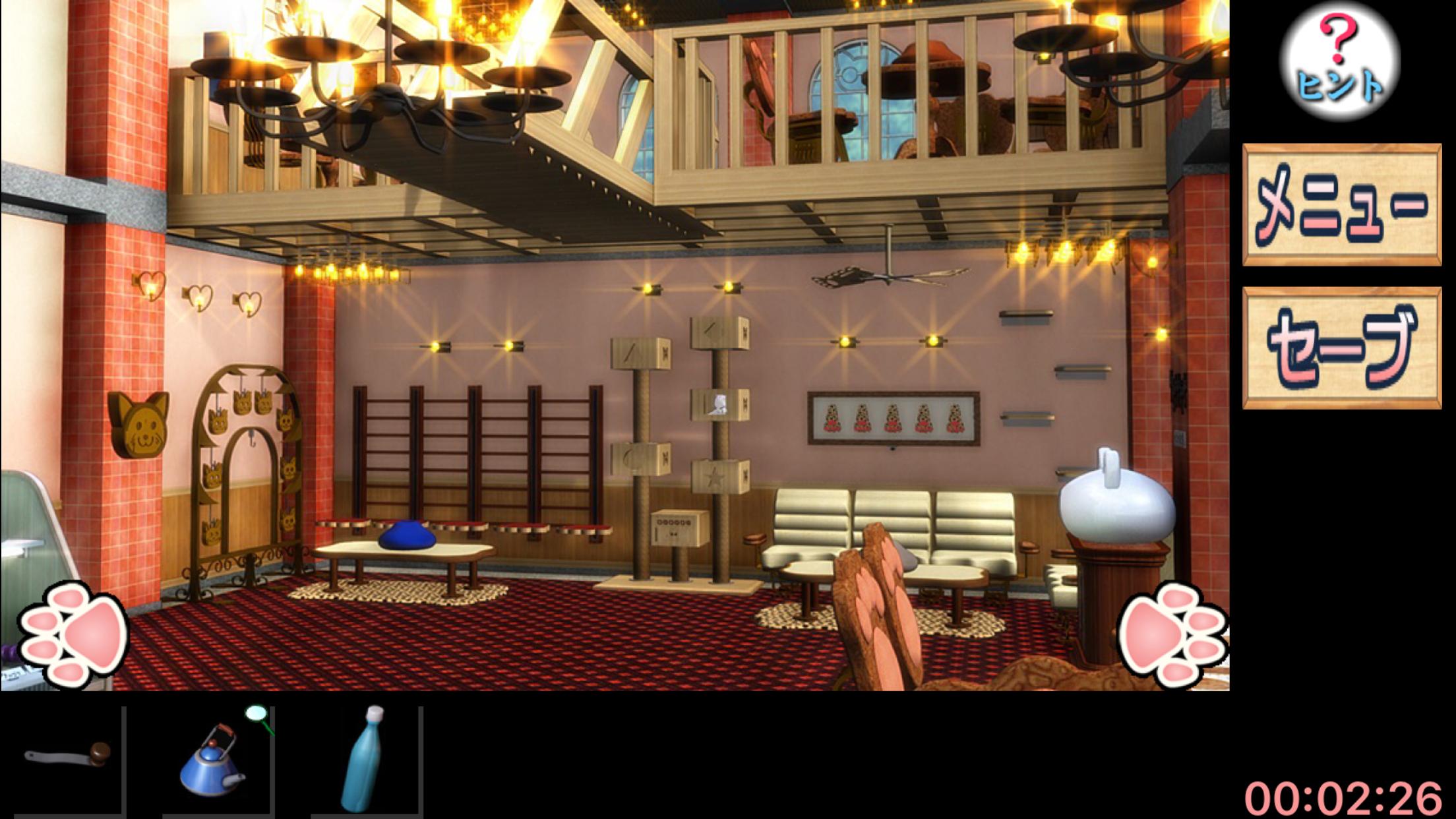 脱出ゲーム 猫カフェ androidアプリスクリーンショット1