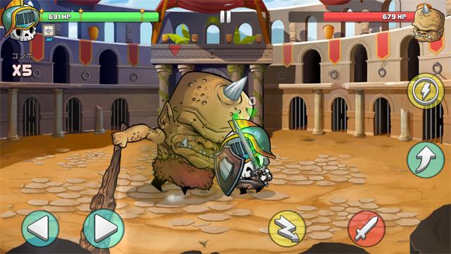 タイニー・グラディエイターズ(Tiny Gladiators) androidアプリスクリーンショット1