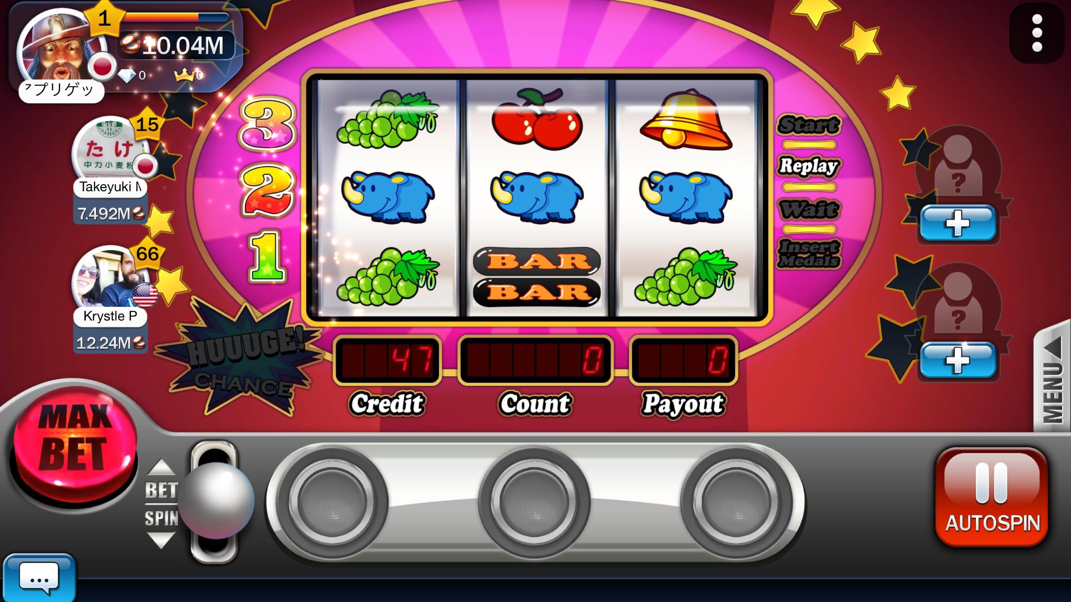 オンラインカジノ&スロット(パチスロ) ~Huuuge Casino androidアプリスクリーンショット1