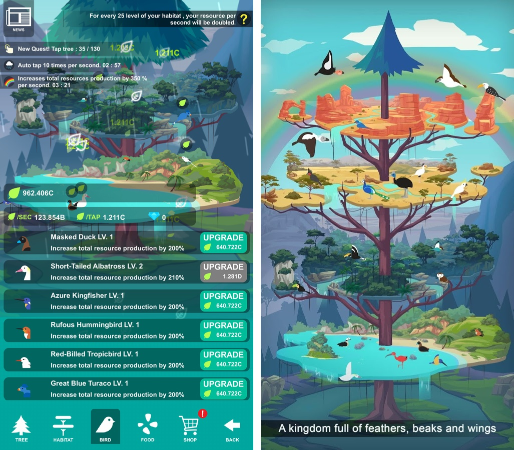 Birdstopia(バードストピア) androidアプリスクリーンショット1