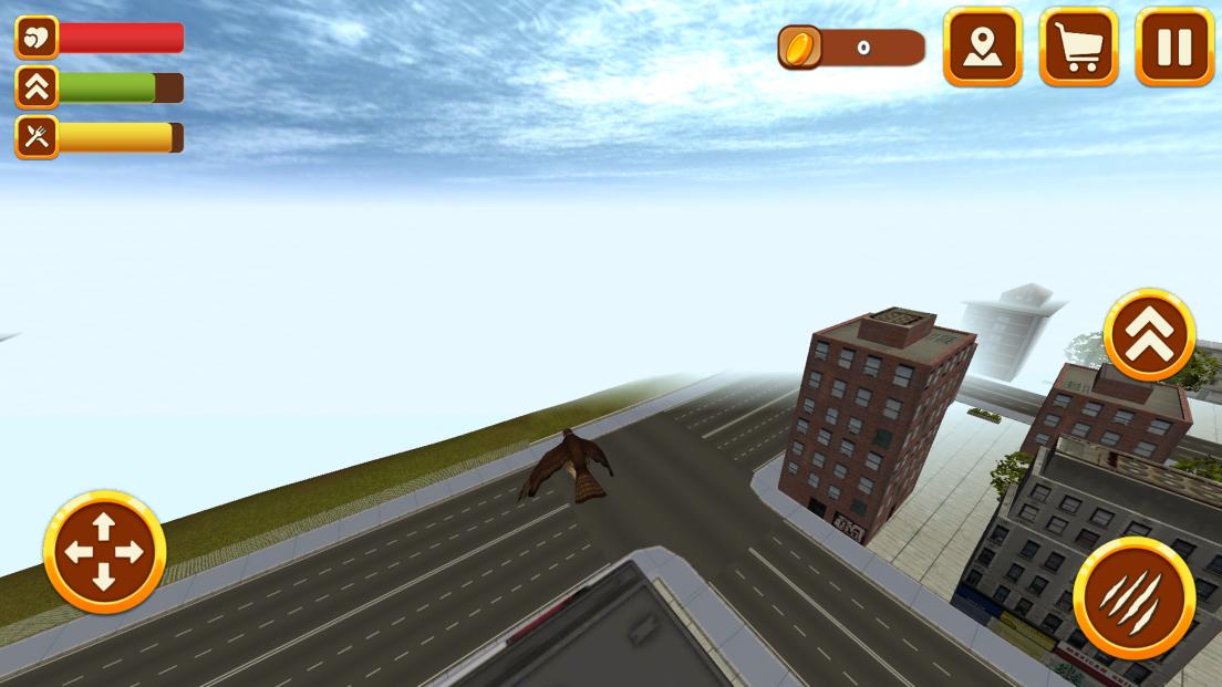 シティファルコンシミュレータ3D:バード・ワイルド・ライフ androidアプリスクリーンショット1