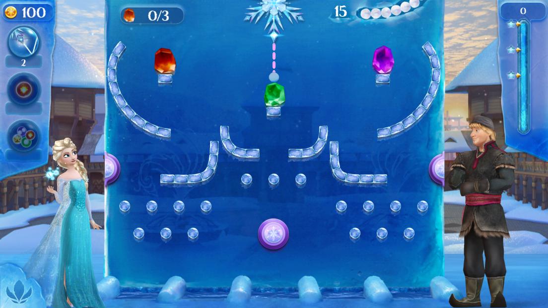 アナと雪の女王 Free Fall:スノーショット androidアプリスクリーンショット1