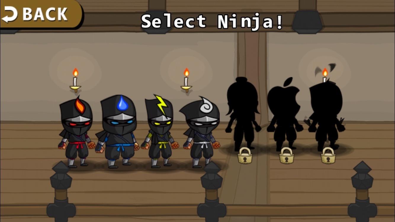 androidアプリ Ninjas Infinity攻略スクリーンショット2