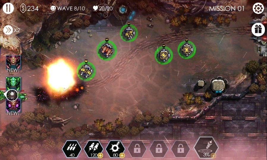 androidアプリ Tower Defense - Invasion TD攻略スクリーンショット4