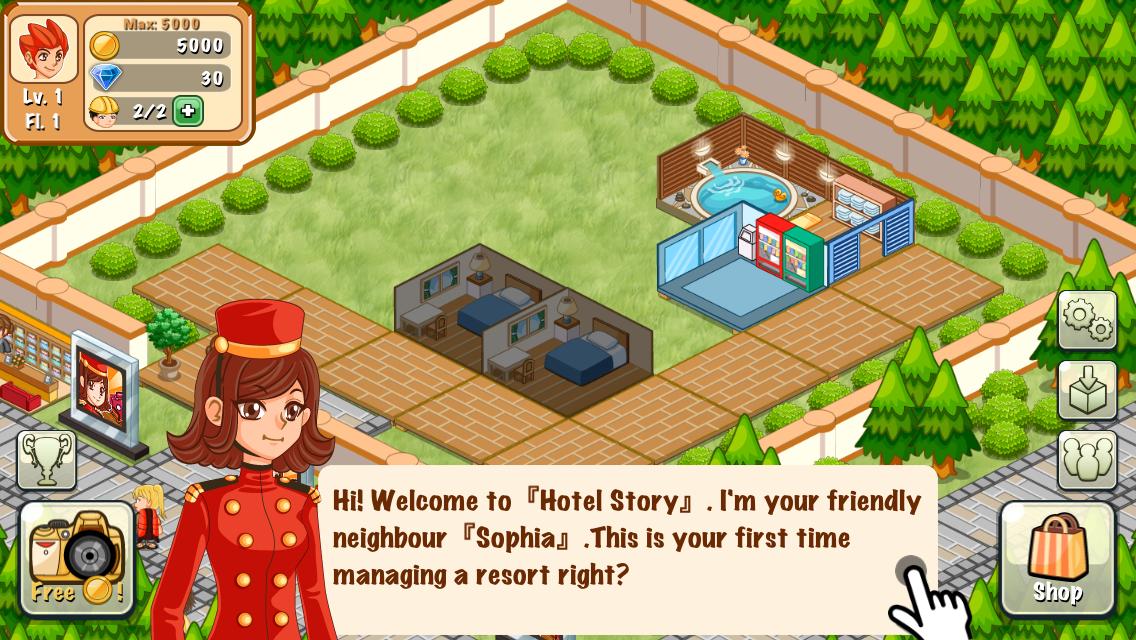 androidアプリ ホテルストーリー攻略スクリーンショット1