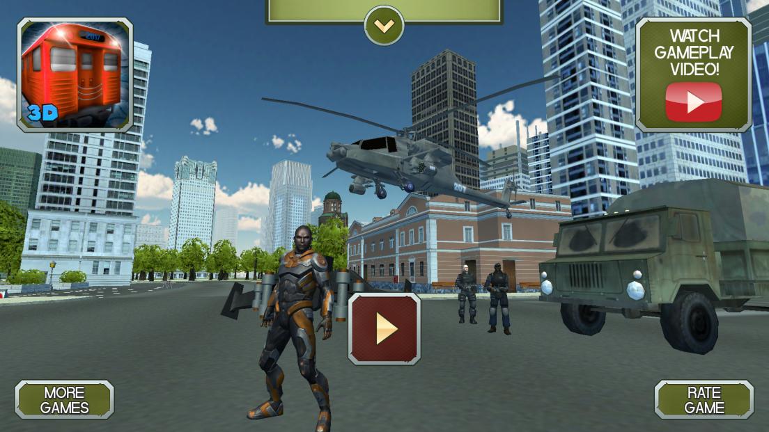 androidアプリ ロープマン:エクストリームタウン攻略スクリーンショット1