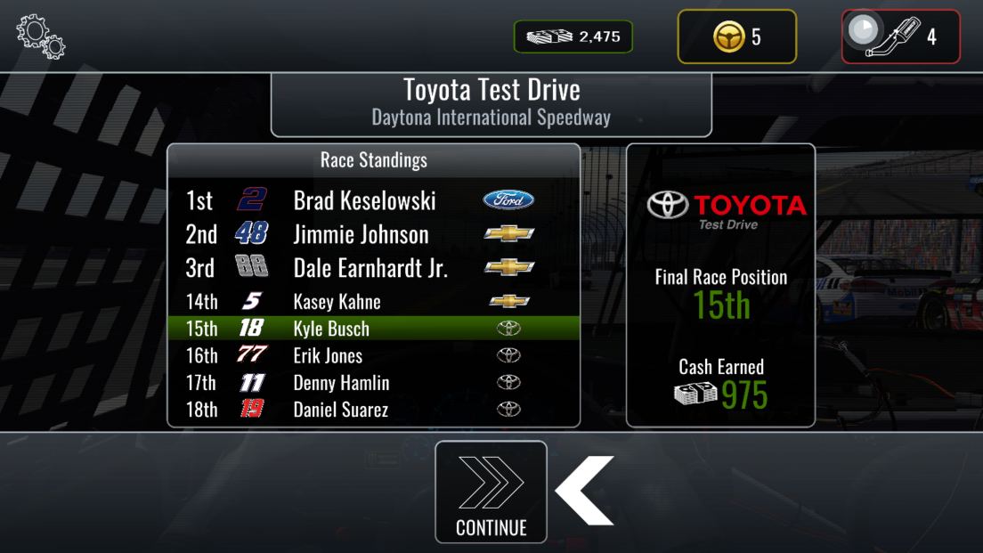 androidアプリ NASCAR Heat Mobile攻略スクリーンショット4