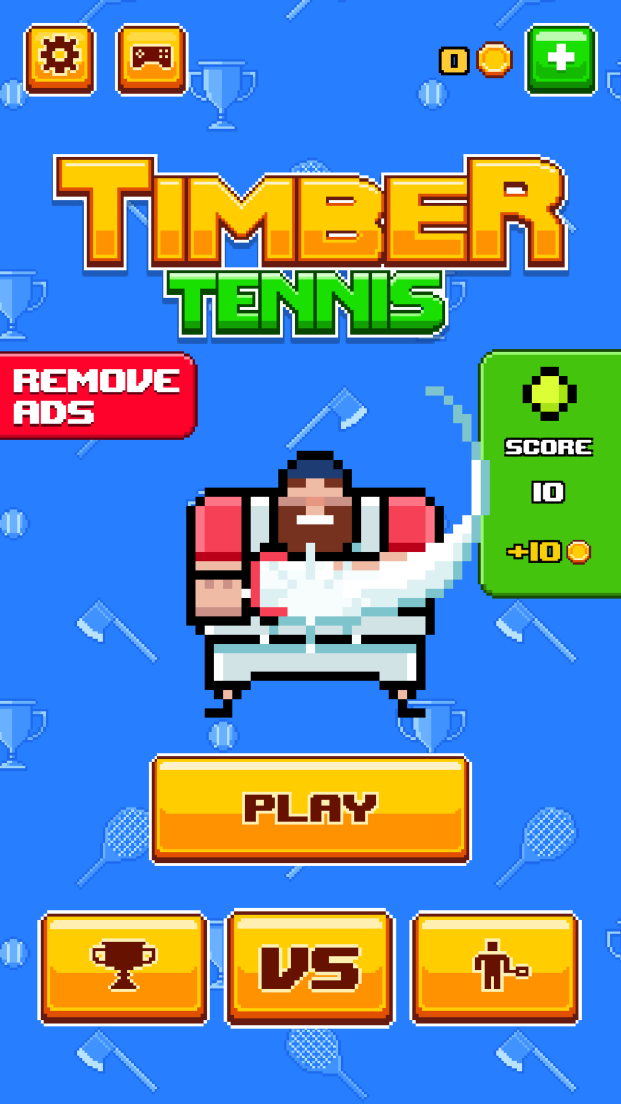androidアプリ Timber Tennis攻略スクリーンショット1