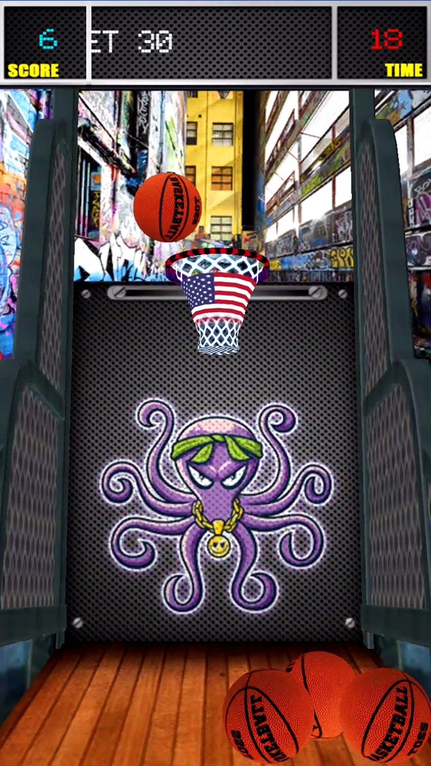 バスケットボールトーズスター数 3Dバスケットボールシミュレータ androidアプリスクリーンショット1