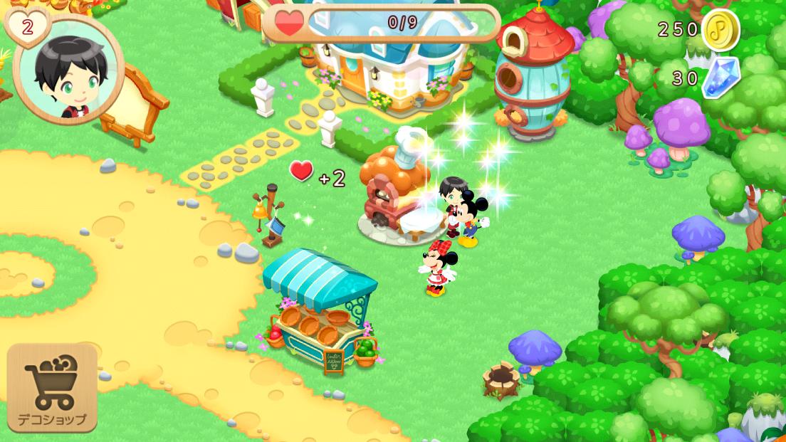デコれるディズニー牧場:マジカルファーム androidアプリスクリーンショット1