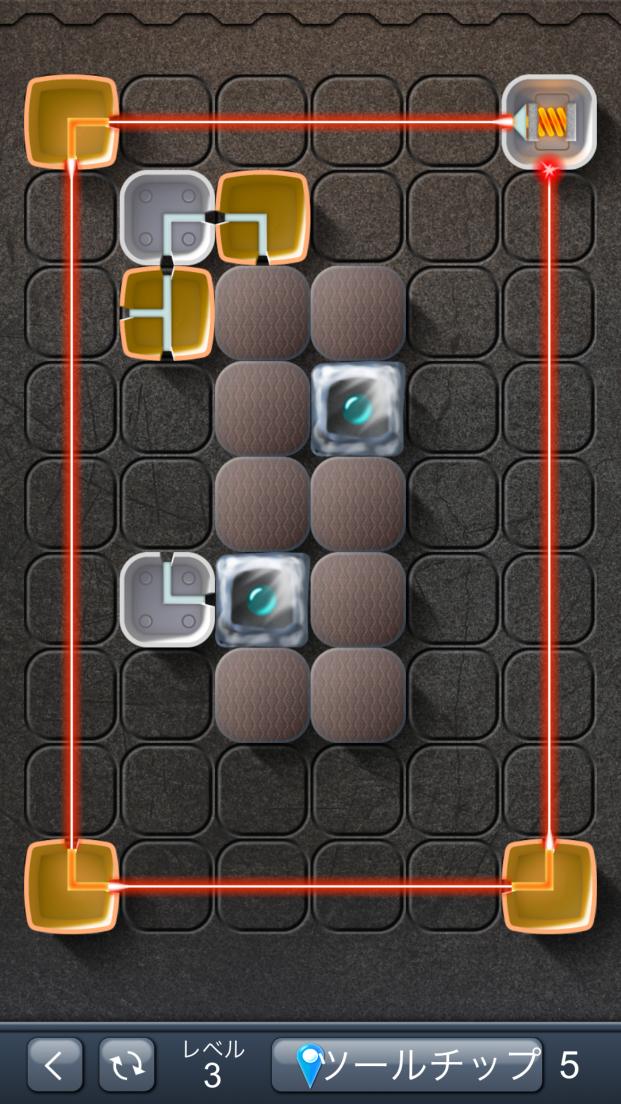 レーザーパズル androidアプリスクリーンショット1