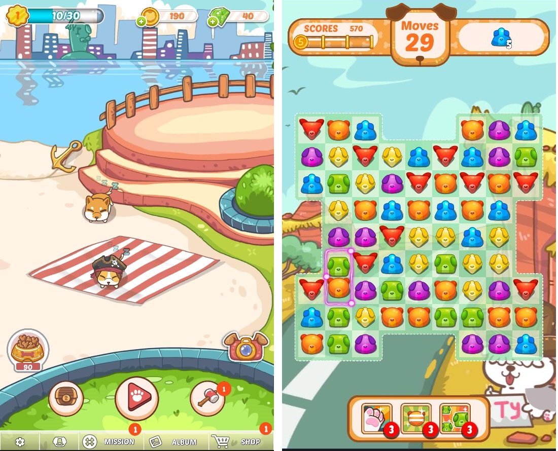 Fancy Dogs - Puzzle & Puppies androidアプリスクリーンショット1