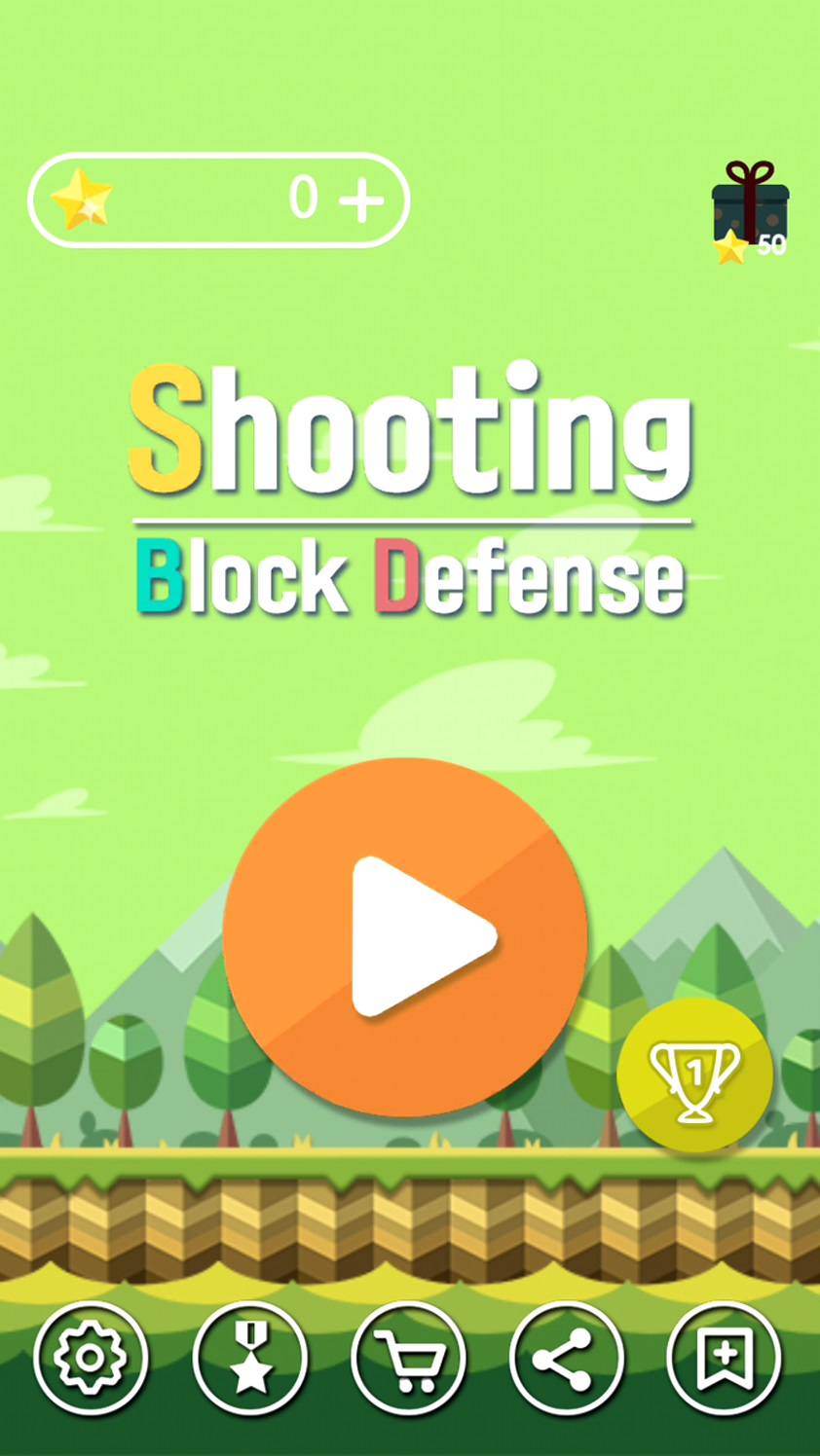 androidアプリ Shooting Block Defense攻略スクリーンショット1