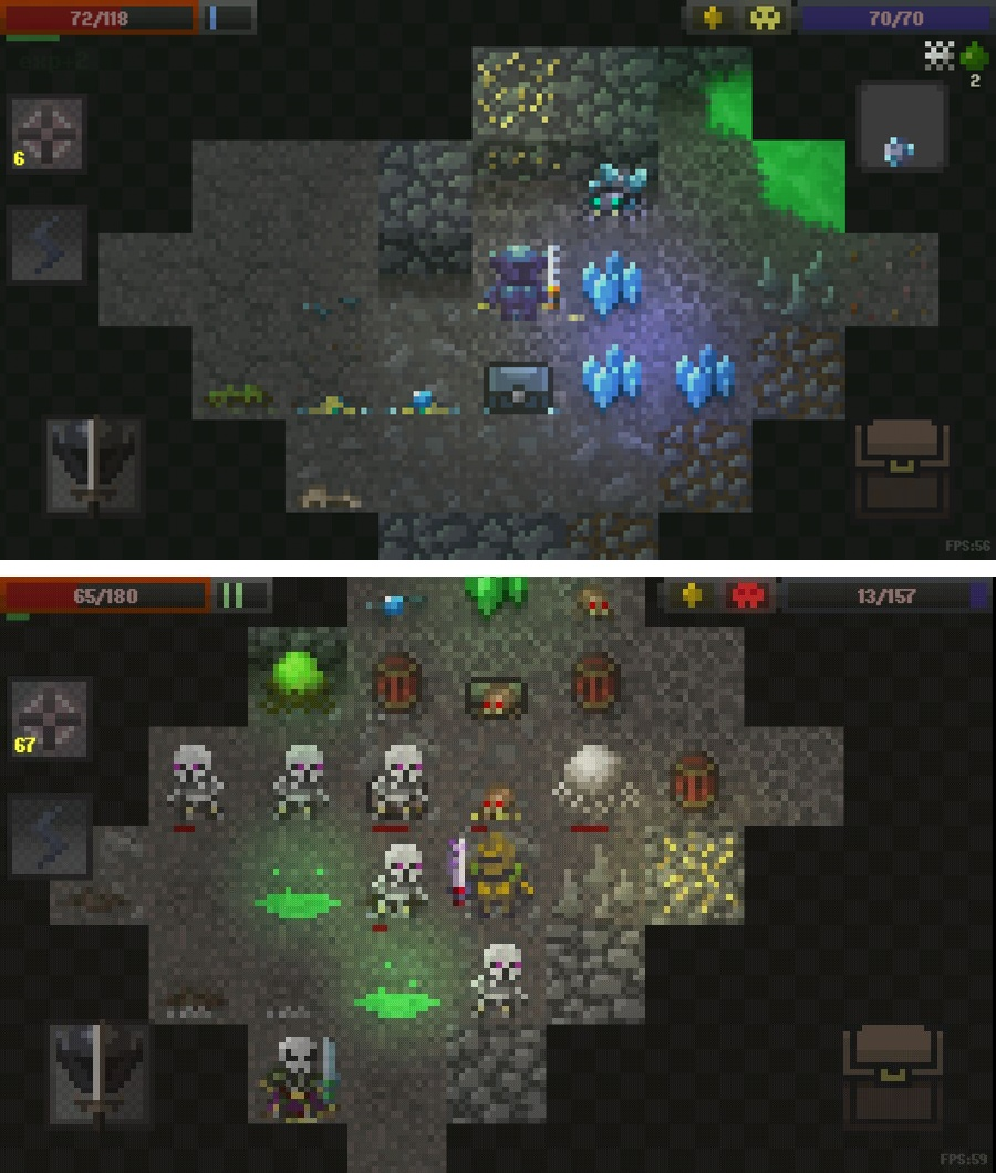 Caves:Roguelike(ローグライク) androidアプリスクリーンショット1