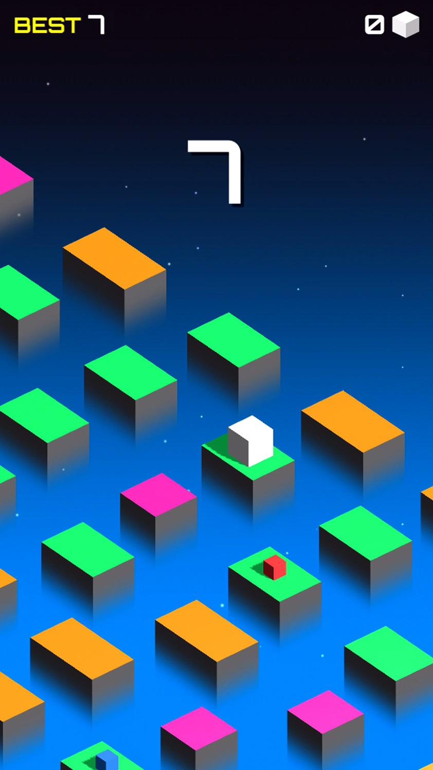 キューブはすぐにジャンプする androidアプリスクリーンショット1