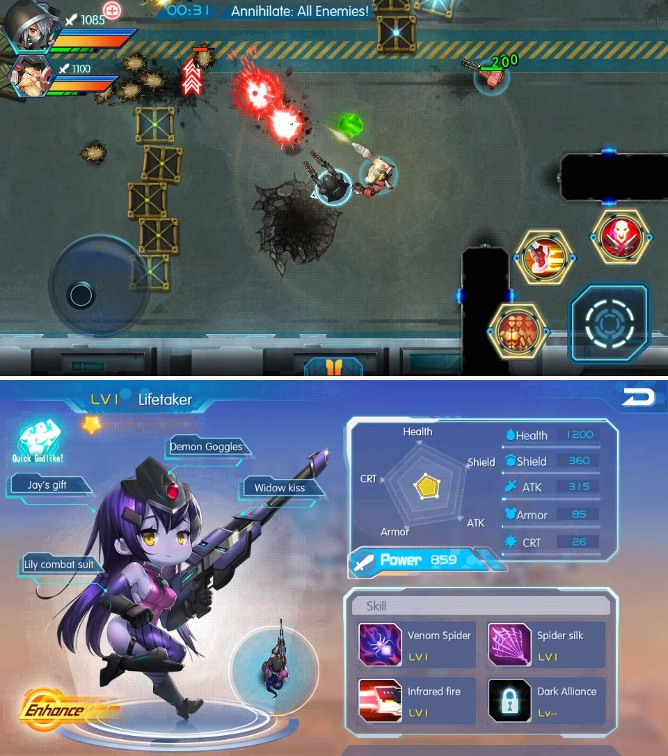 Shooting Heroes Free(シューティングヒーロー) androidアプリスクリーンショット1