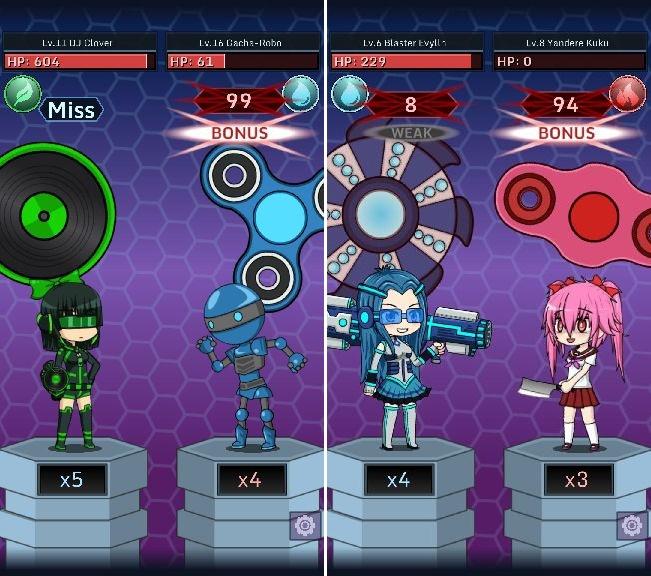 Anime Fidget Spinner Battle androidアプリスクリーンショット1