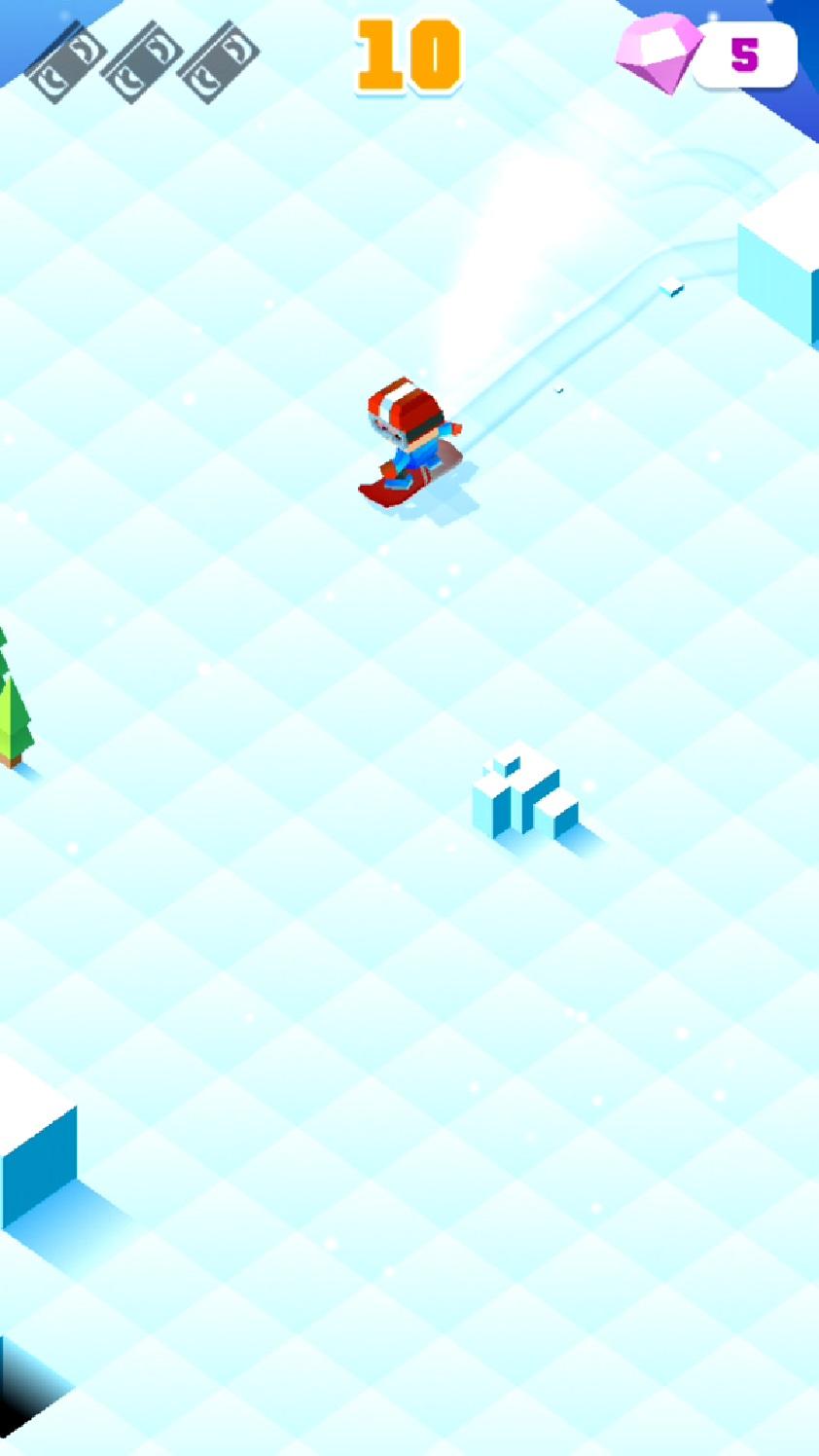 androidアプリ Blocky Snowboarding攻略スクリーンショット2