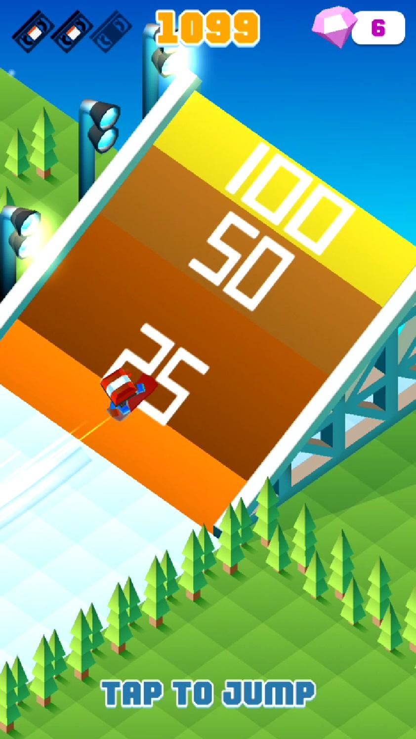 androidアプリ Blocky Snowboarding攻略スクリーンショット3