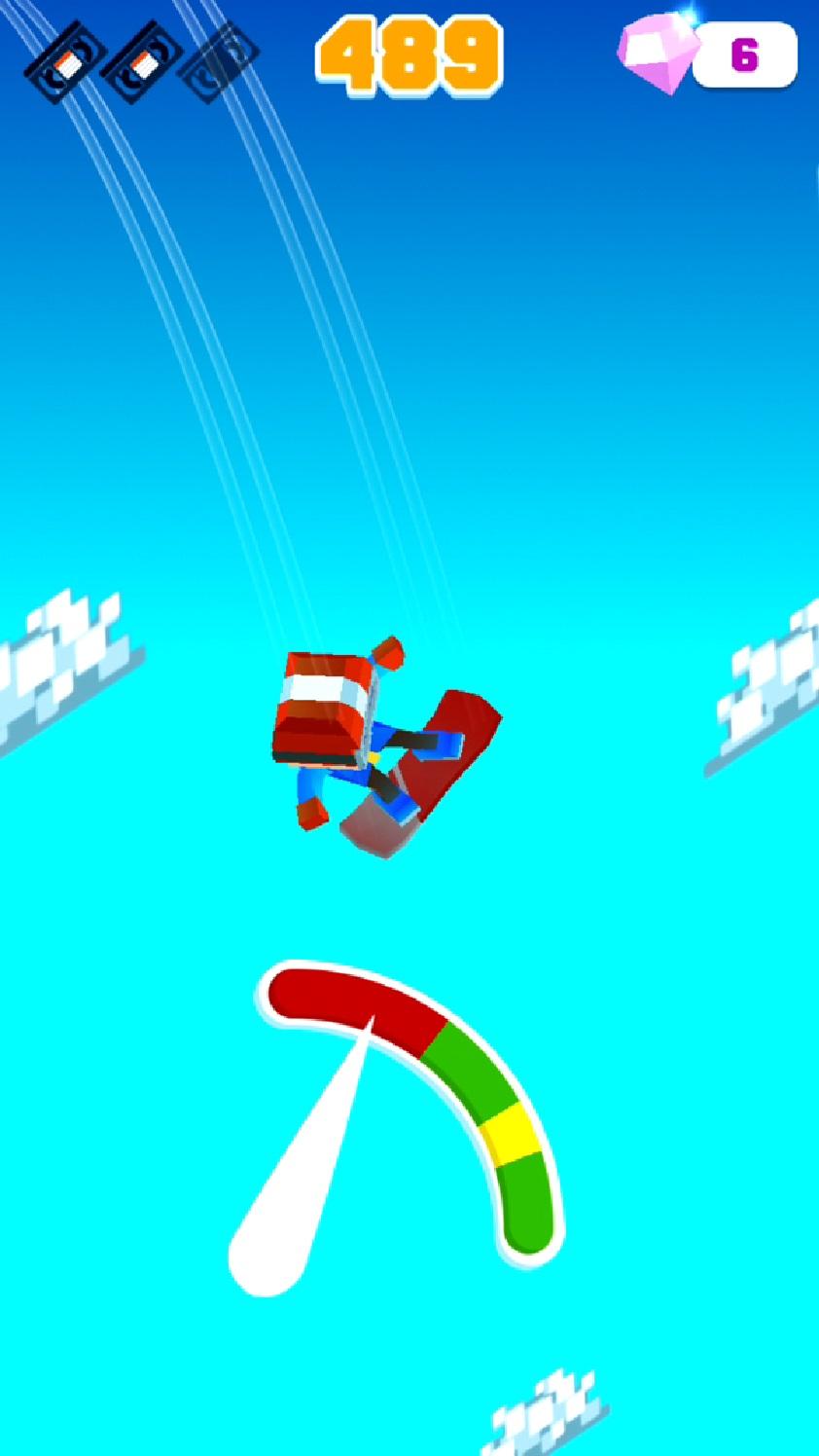 androidアプリ Blocky Snowboarding攻略スクリーンショット5