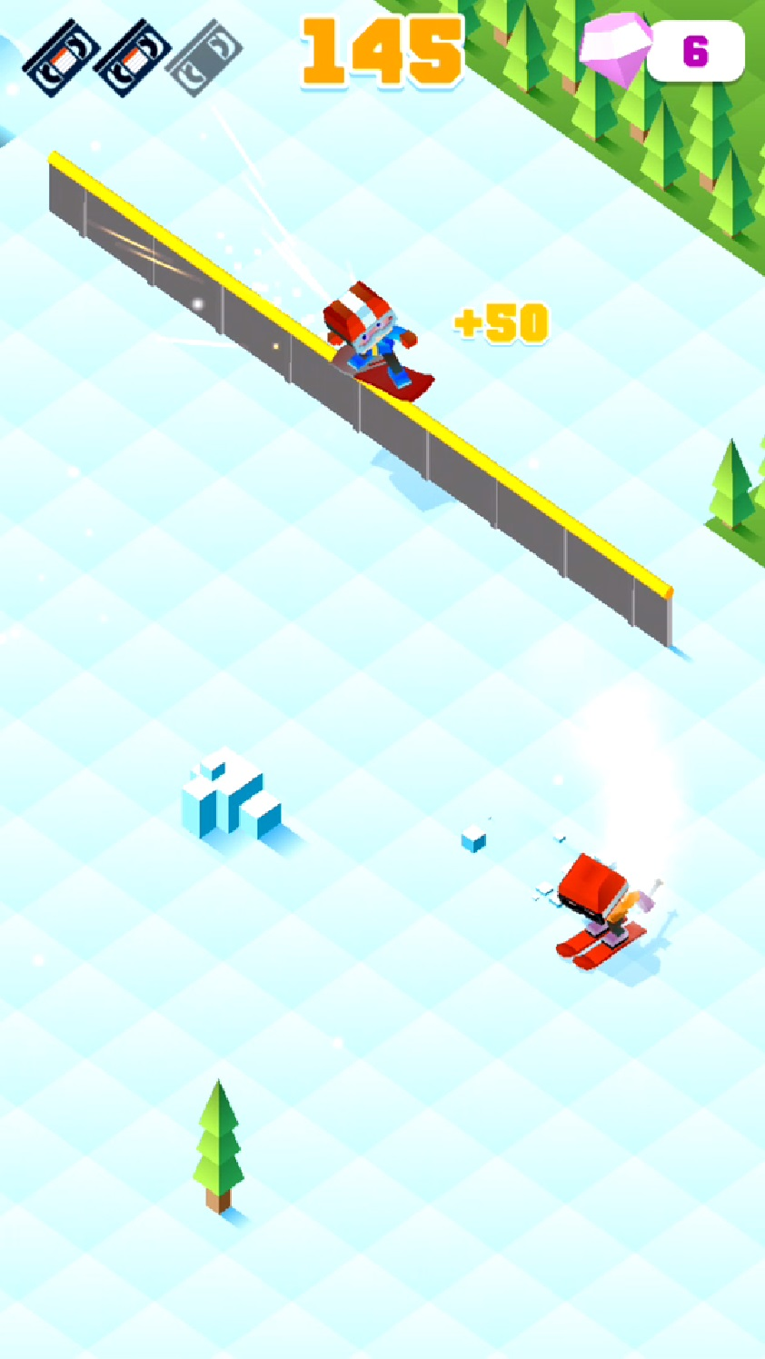 Blocky Snowboarding androidアプリスクリーンショット1