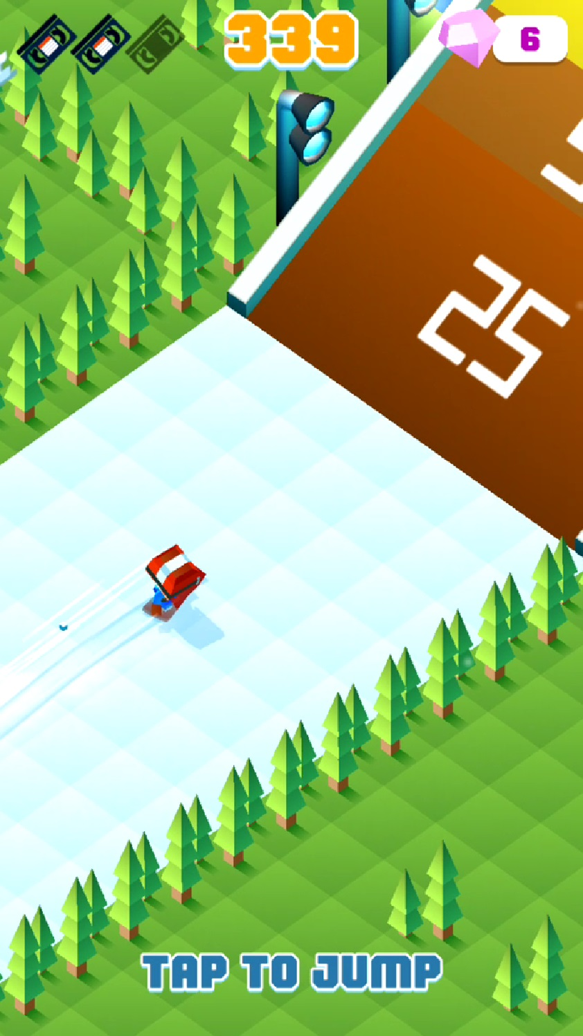 Blocky Snowboarding androidアプリスクリーンショット2