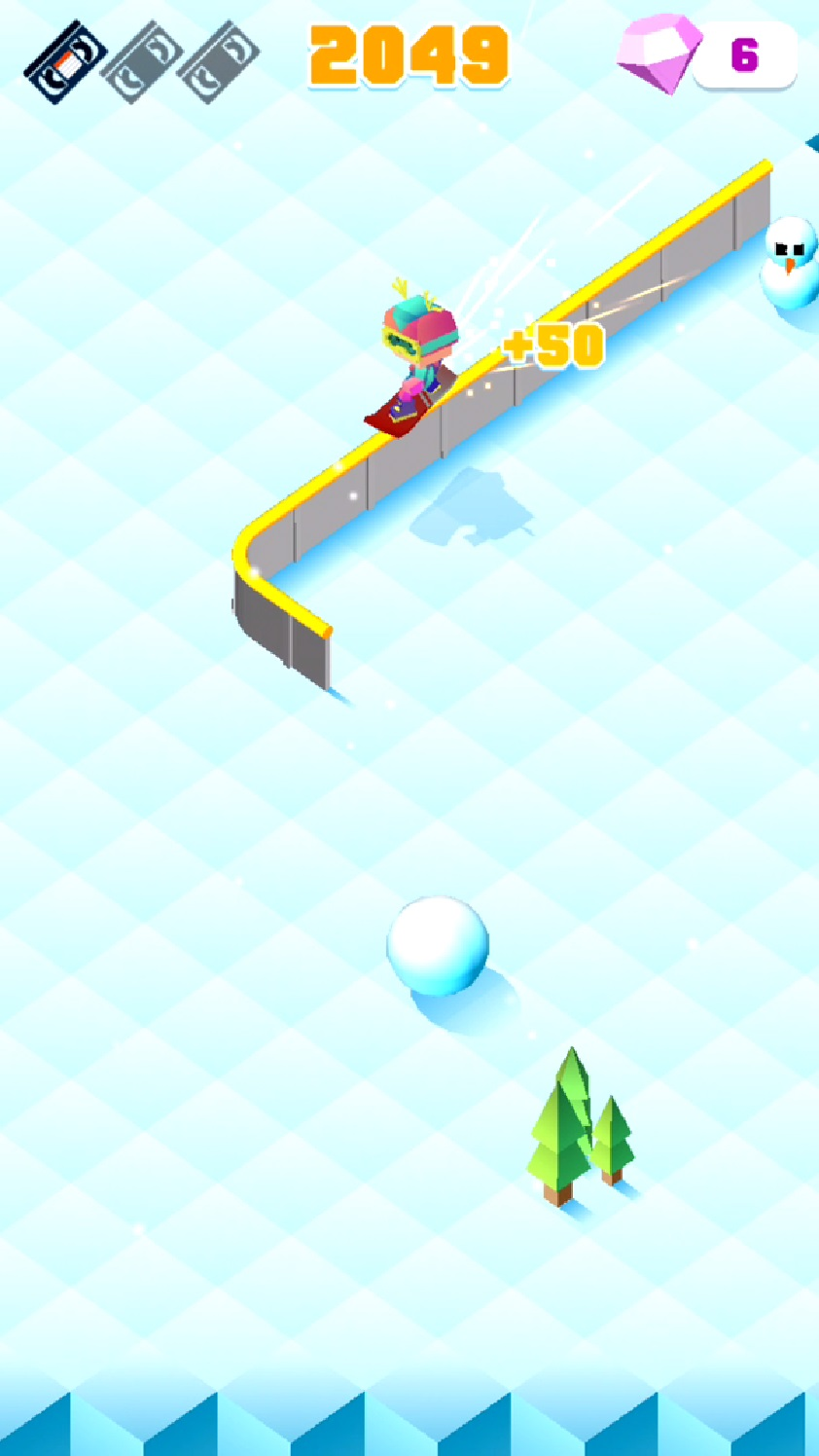 Blocky Snowboarding androidアプリスクリーンショット3
