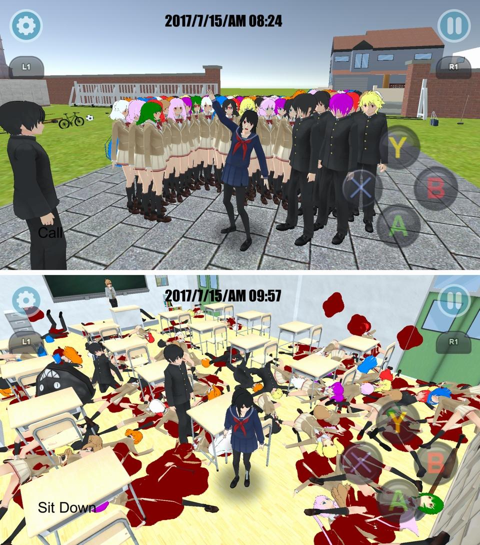 High School Simulator 2018(ハイスクール シミュレーター) androidアプリスクリーンショット1