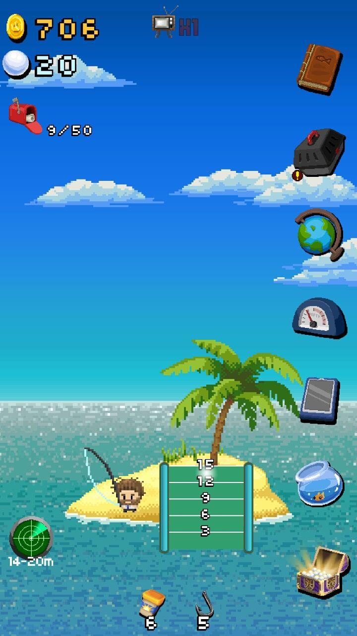 androidアプリ 孤島Fishing攻略スクリーンショット1