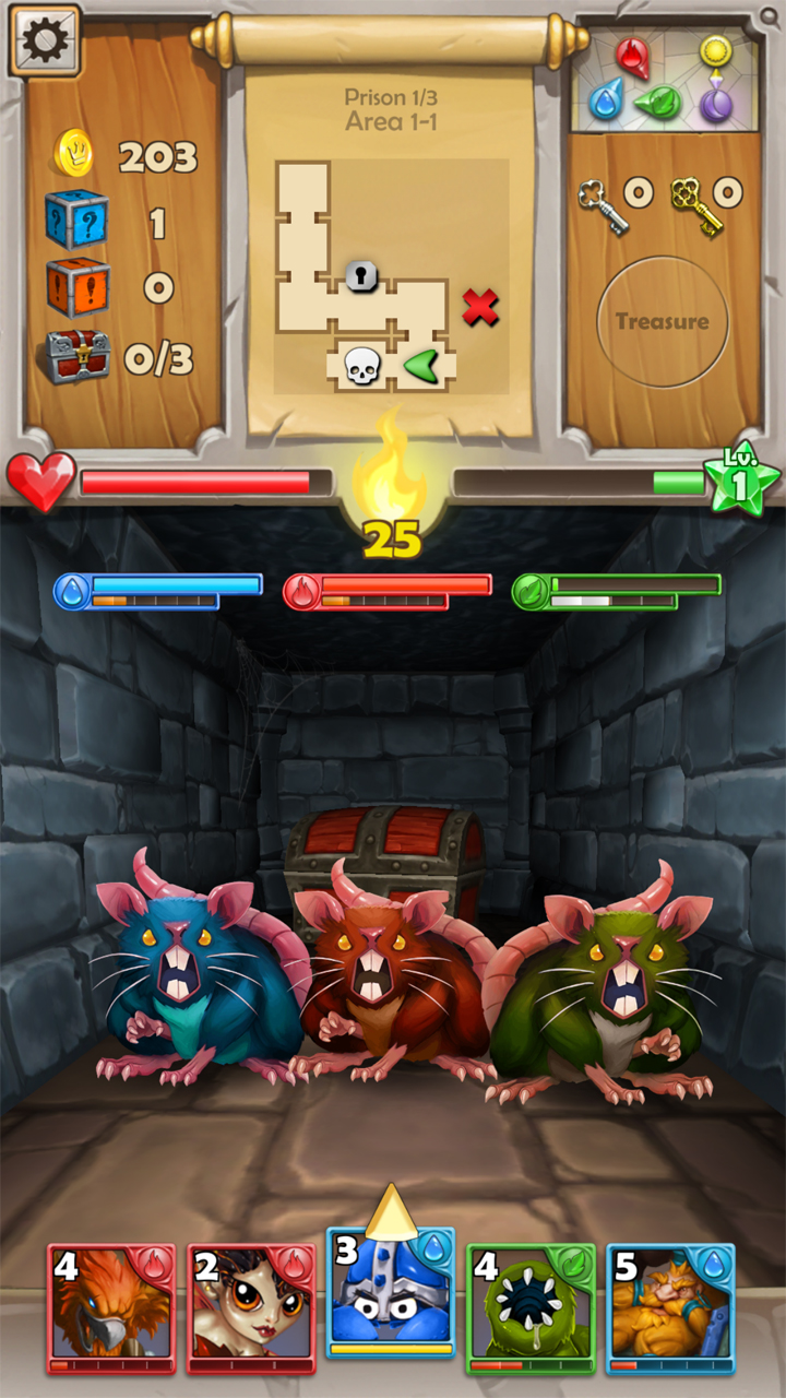 androidアプリ Dungeon Monsters(ダンジョン モンスターズ)攻略スクリーンショット4