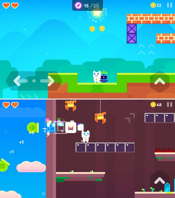 スーパー ニャー 2 (Super Phantom Cat 2) androidアプリスクリーンショット1