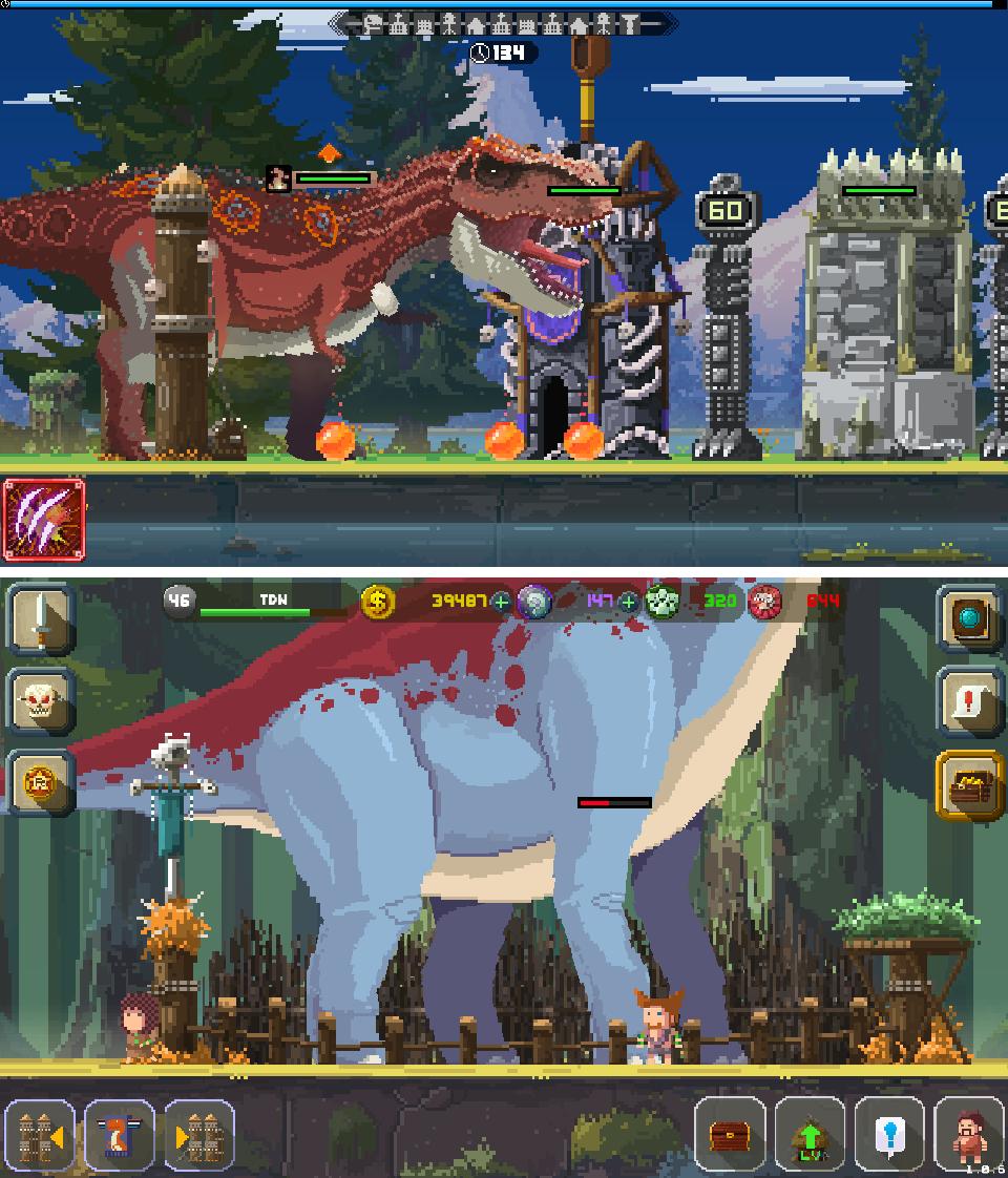 Tiny Dino World:Return(タイニーディノワールド) androidアプリスクリーンショット1