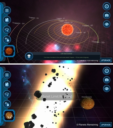 Pocket Universe - 3D Gravity Sandbox Free androidアプリスクリーンショット1