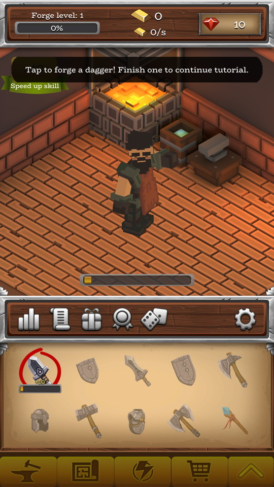 androidアプリ ForgeCraft -Idle Tycoon-(フォージクラフト)攻略スクリーンショット1