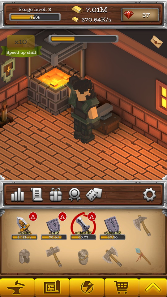 androidアプリ ForgeCraft -Idle Tycoon-(フォージクラフト)攻略スクリーンショット3
