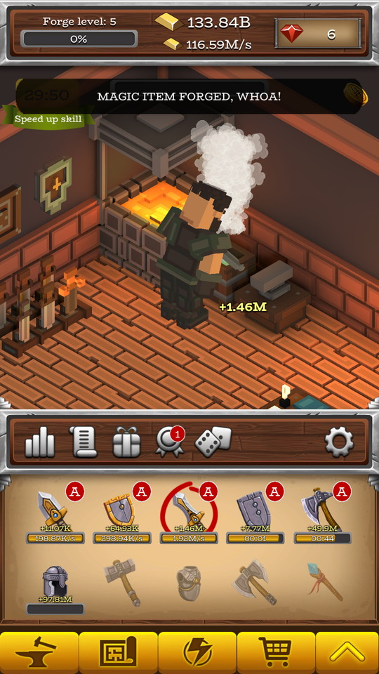 androidアプリ ForgeCraft -Idle Tycoon-(フォージクラフト)攻略スクリーンショット4
